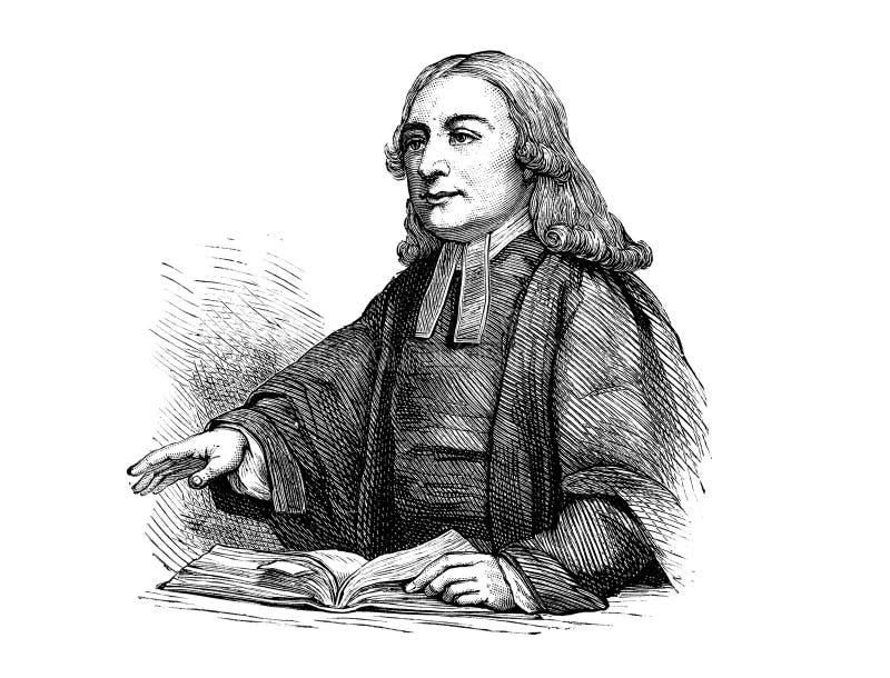 John Wesley ilustracja wektor