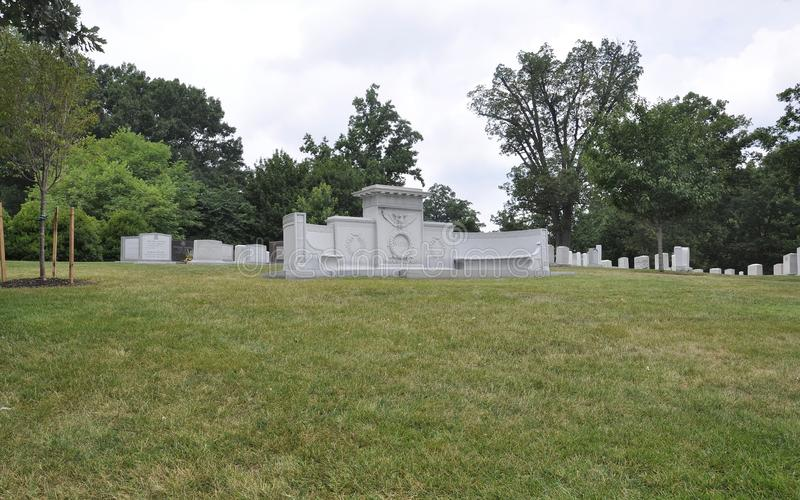 John Wingate Weeks Secretary av kriggraven i den Arlington kyrkogården från Virginia USA arkivbild