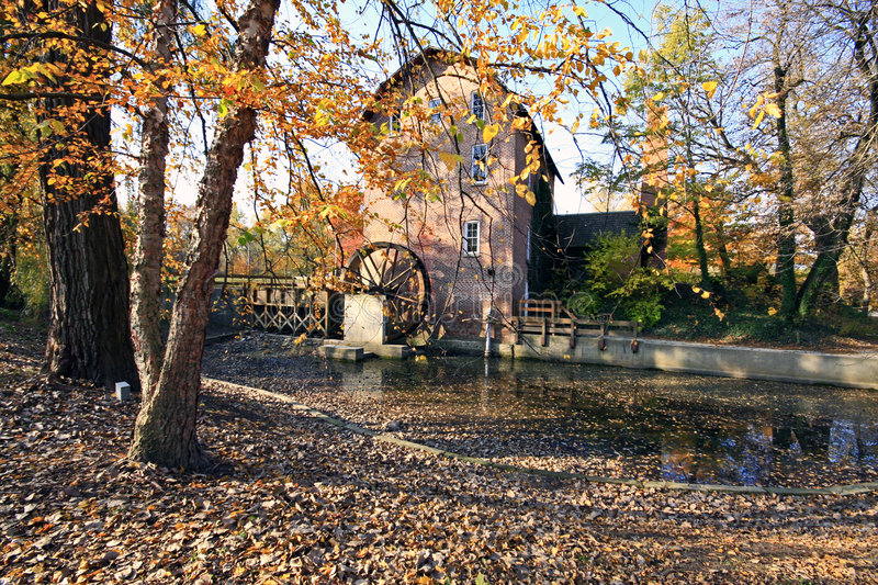 John wood grist mill in november stock photos