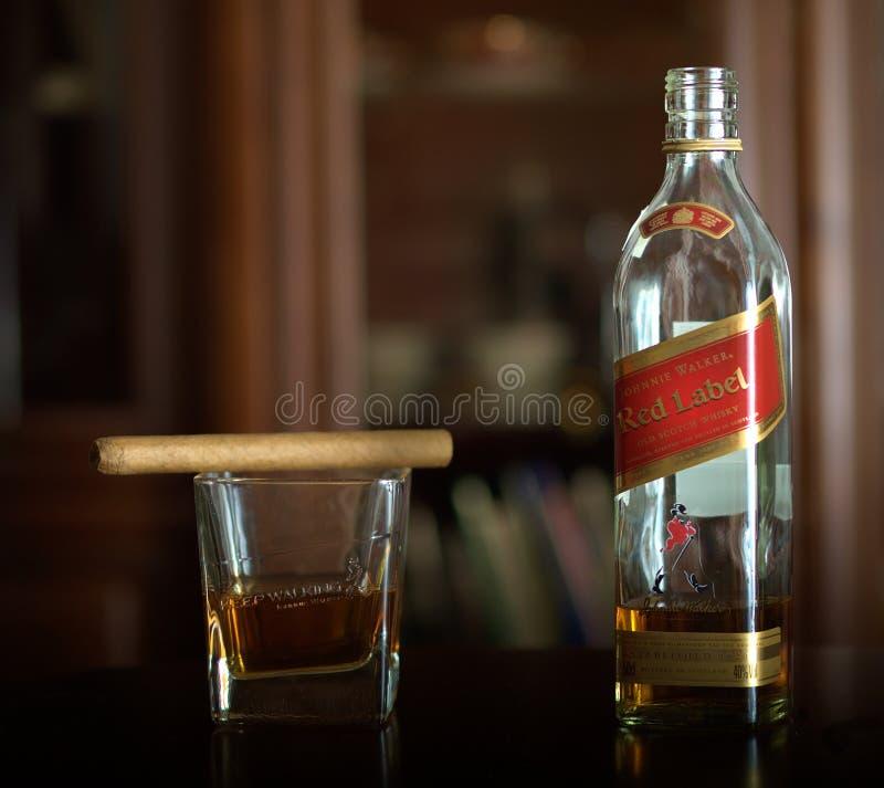 johnnie步行者威士忌酒 库存图片