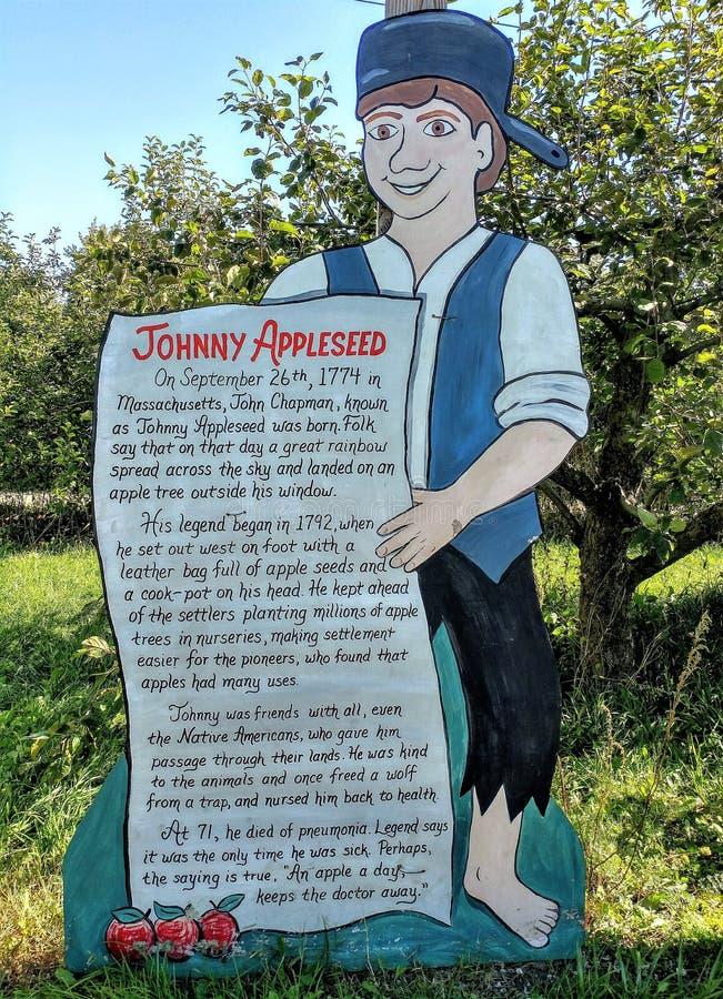 Johnny Appleseed History - Apple Holler royaltyfri bild