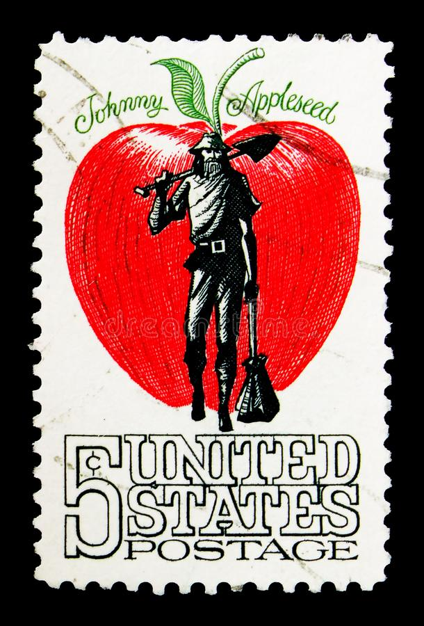 Johnny Appleseed serie, circa 1966 arkivfoto