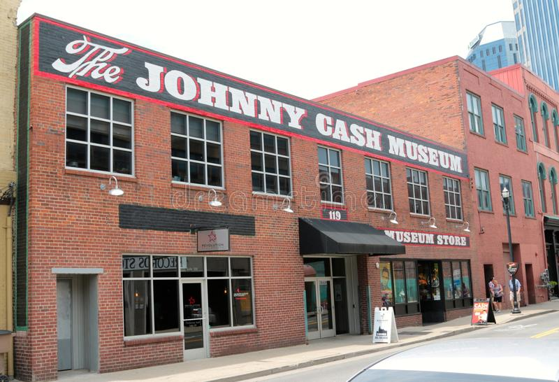 The Johnny Cash Museum Nashville Tennessee. The Johnny Cash Museum, John R. Johnny Cash (February 26, 1932 – September 12, 2003) was a singer-songwriter royalty free stock photo