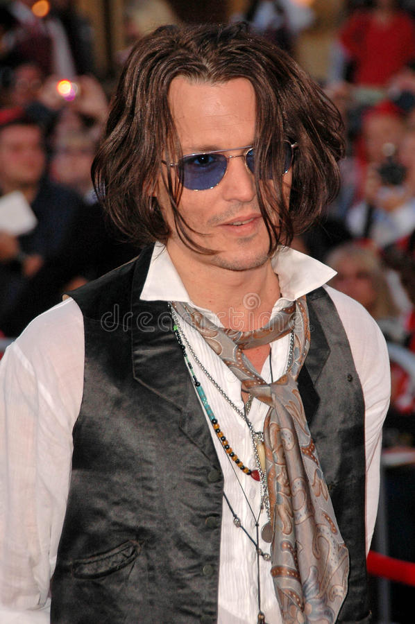 Download Johnny Depp editorial stock image. Image of world, anaheim - 24305459