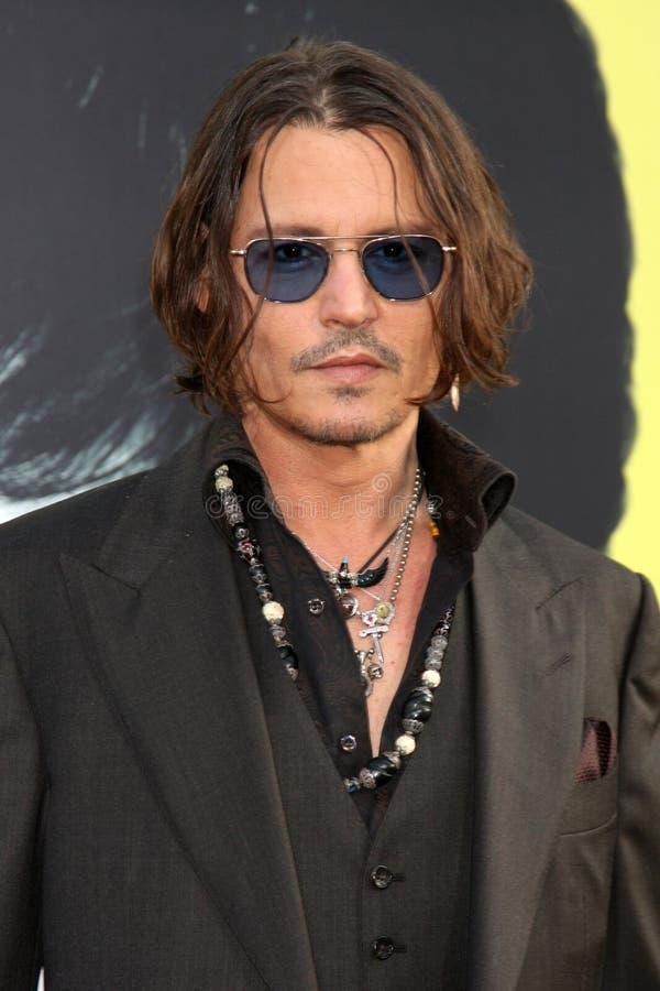 Johnny Depp, die Schwärzung lizenzfreies stockbild