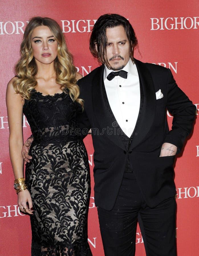Johnny Depp en Amber Heard royalty-vrije stock fotografie