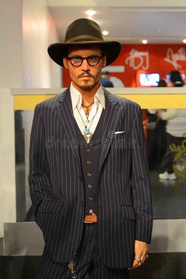 Johnny Depp - Hall of celebrities stock images