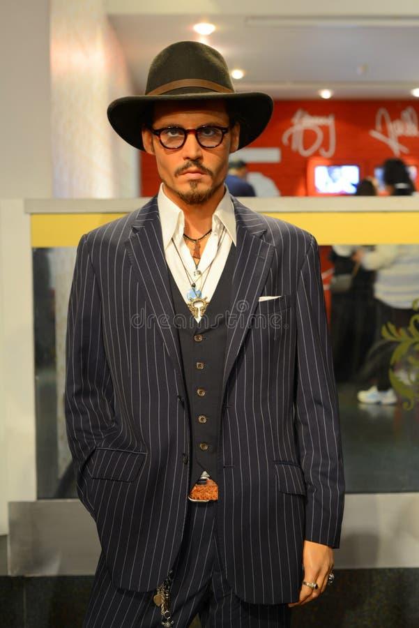 Johnny Depp - Salão das celebridades imagens de stock