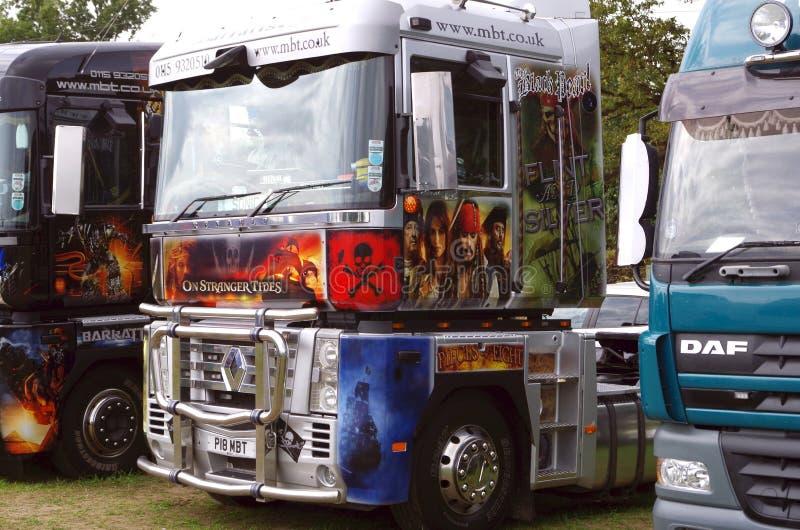 Johnny Depp Truck royaltyfri foto
