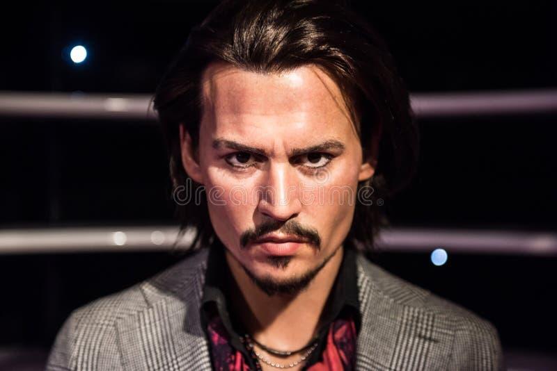 Johnny Depp, Wachsskulptur, Madame Tussaud stockfoto