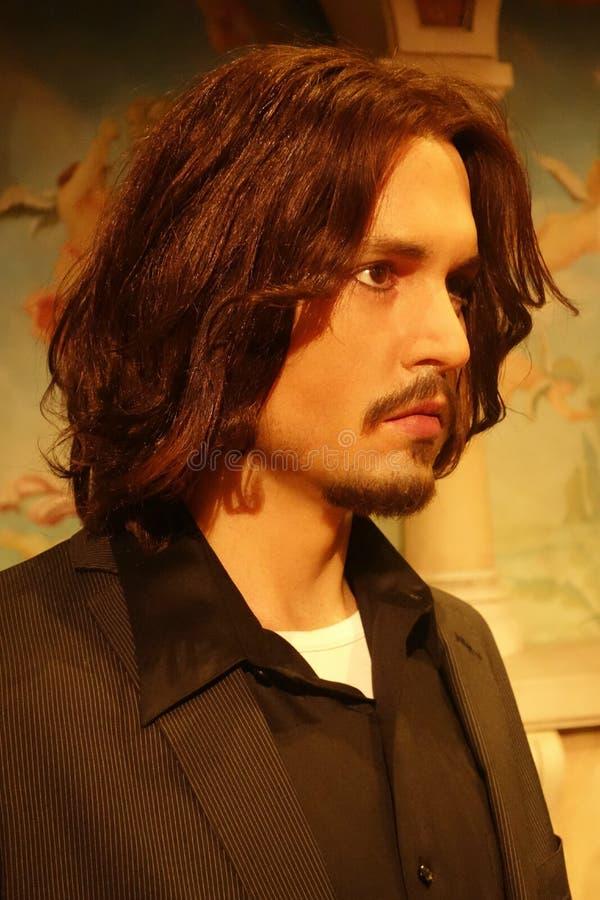 Johnny Depp Wax Figure fotografia de stock royalty free