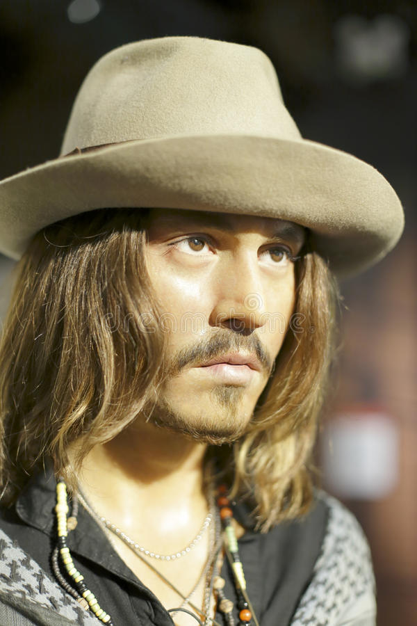 Johnny Depp Wax Figure foto de stock