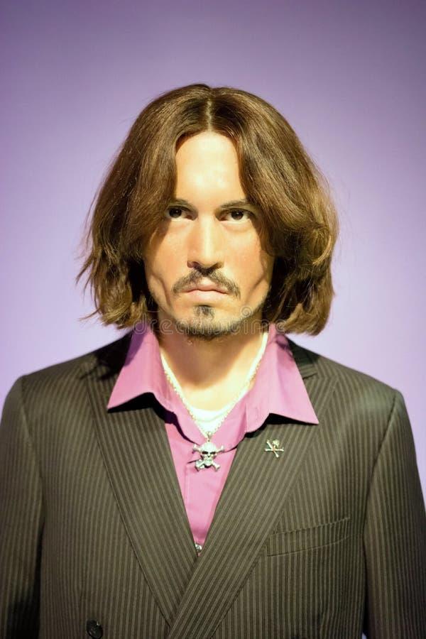 Johnny Depp Wax Figure imagens de stock
