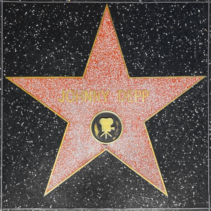 Johnny Depps gwiazda na Hollywood spacerze sława obraz stock