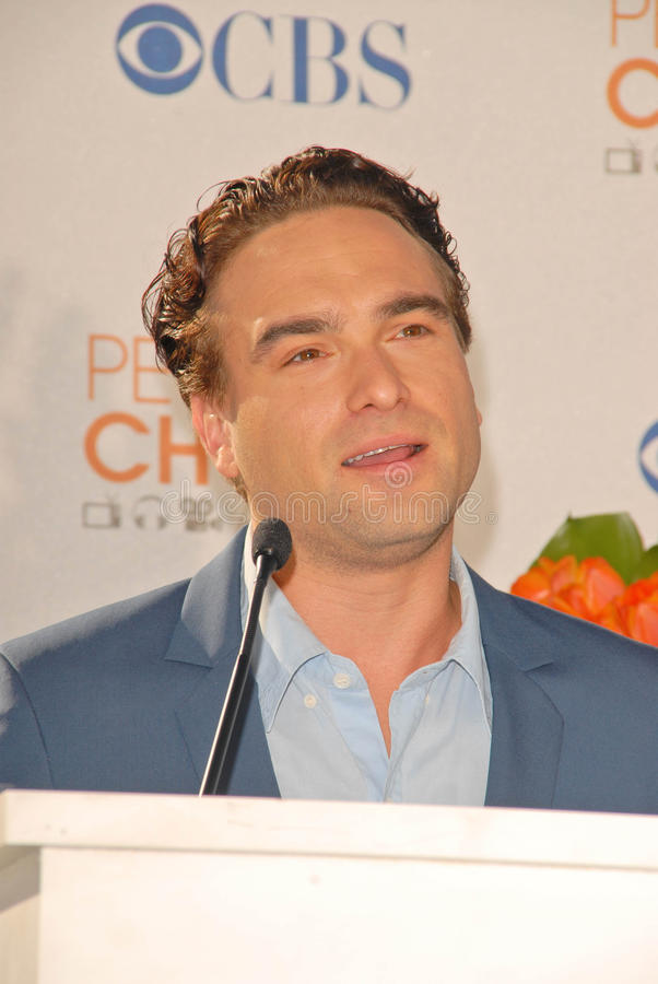 Download Johnny Galecki editorial photography. Image of nomination - 25006772