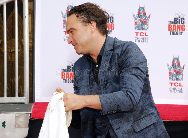 Johnny Galecki. At the handprints ceremony for `The Big Bang Theory` held at the TCL Chinese Theatre IMAX in Hollywood, USA on May 1, 2019 stock photo
