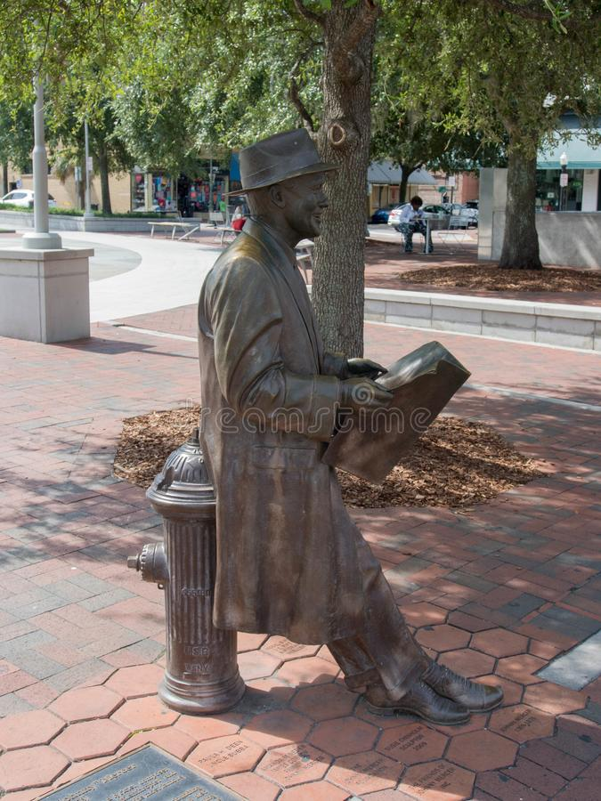 Johnny Mercer Statue in Ellis Square lizenzfreie stockfotos