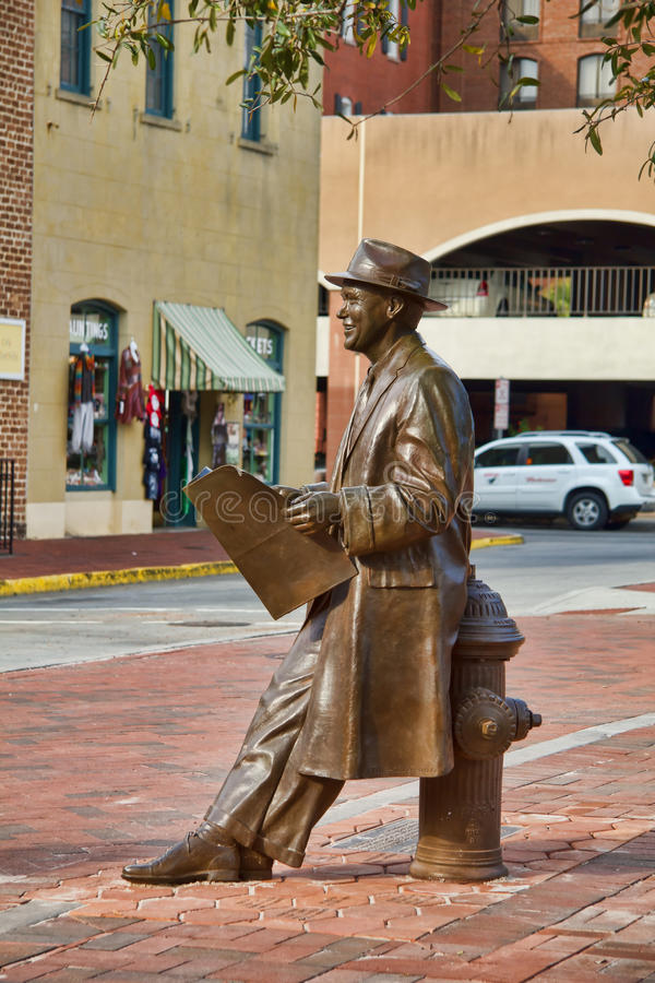 Johnny-Textilienhändler-Statue lizenzfreies stockfoto