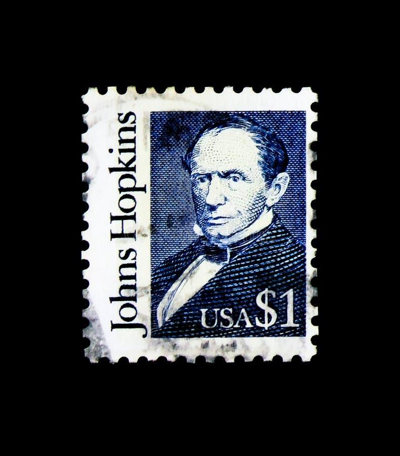 Johns Hopkins, Grote Amerikanen serie, circa 1989 royalty-vrije stock afbeeldingen