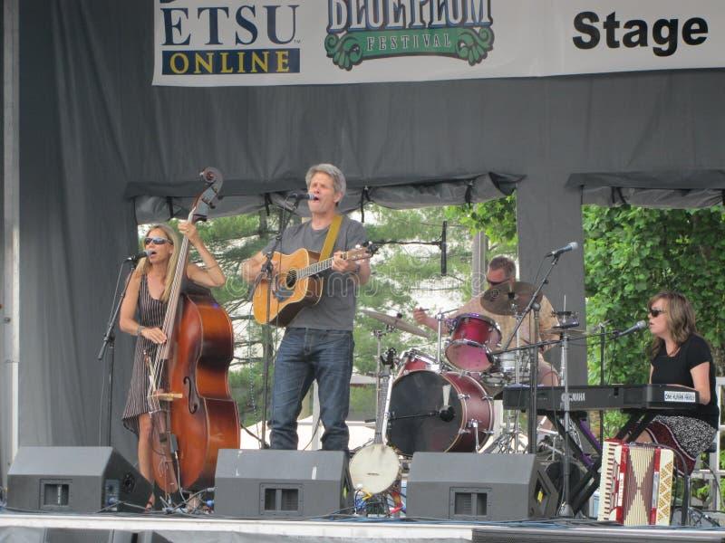 Johnson City - Plum Festival bleue - représentation musicale d'ETSU photo libre de droits