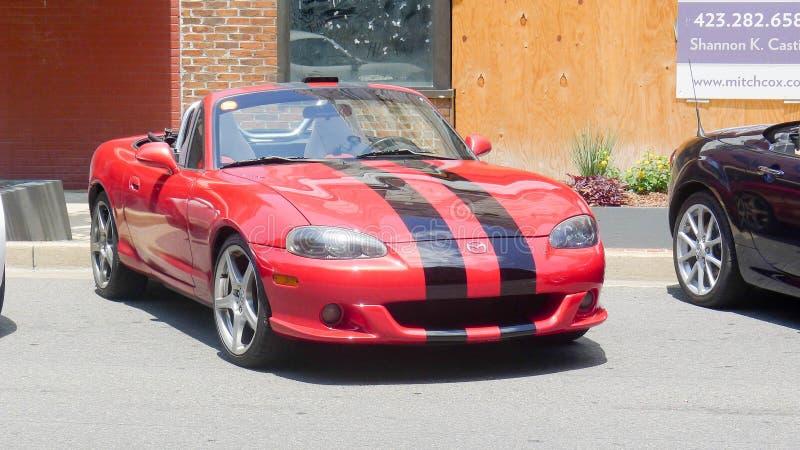 Mazda Miata Automobile. Johnson City, Tennessee United States 06-09-2018 Mazda Miata automobile royalty free stock photography
