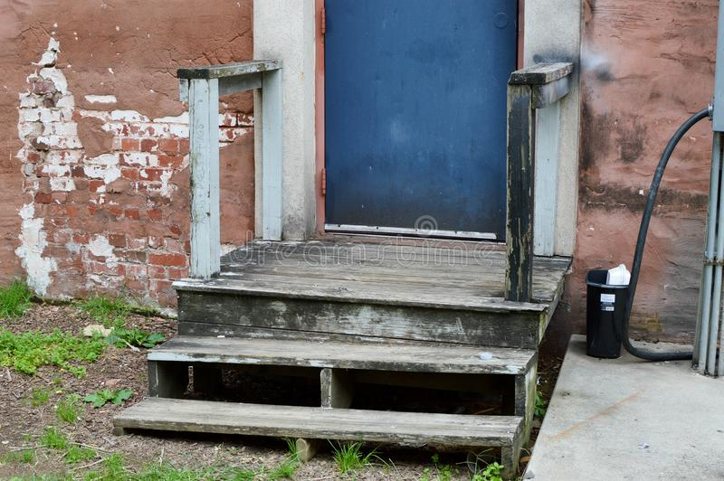 Old Porch and Steps. Johnson City, Tennessee United States 08-11-2017 Old Porch and Steps stock photo