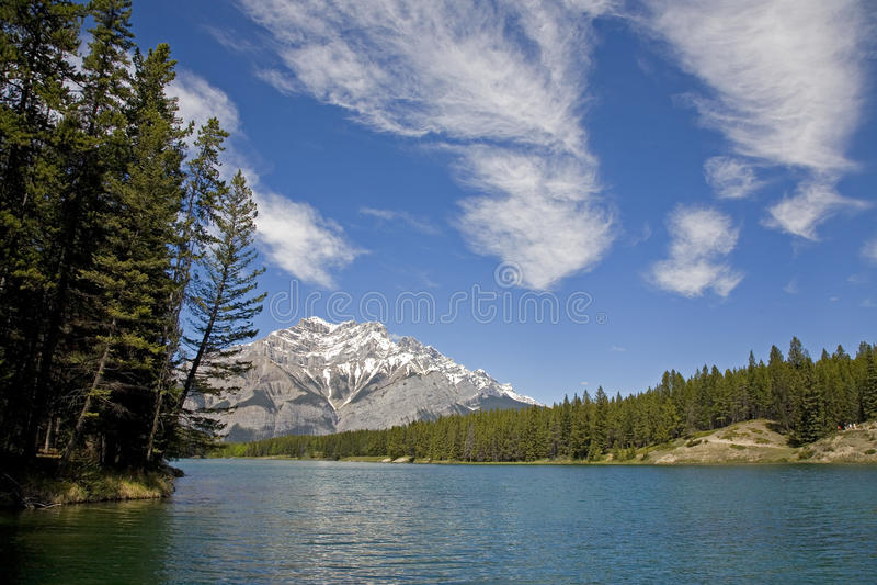 Johnson Lake, Banff, Canada stock image