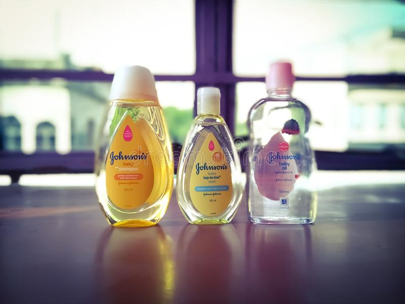 Johnson& x27;s Baby Products For Baby Care stock photography