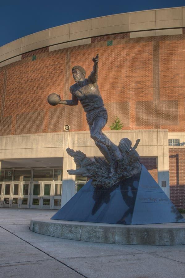 Johnson Statue mágico en el centro de Breslin foto de archivo libre de regalías