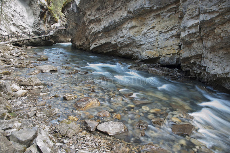 Johnston Canyon. In Banff National Park, Canada stock photos