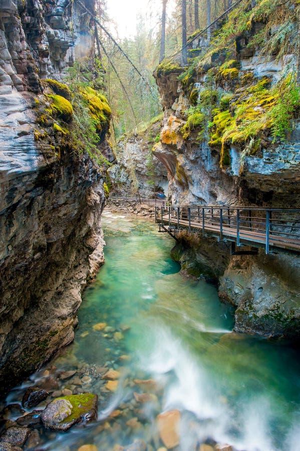 Johnston canyon. Banff national park, Canada stock photo