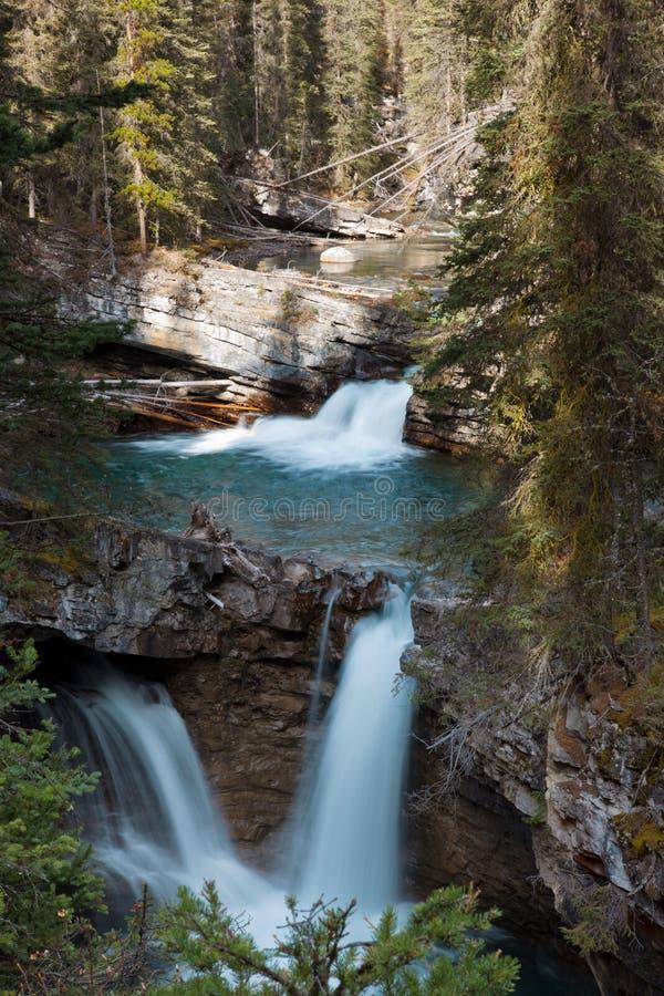 Johnston Canyon Falls. In the Fall, Alberta, Canada stock photo