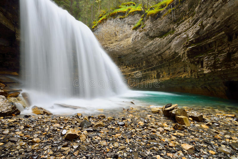 Johnston Canyon. Landscape featuring a waterfall from Johnston Canyon, Banff National Park royalty free stock photo