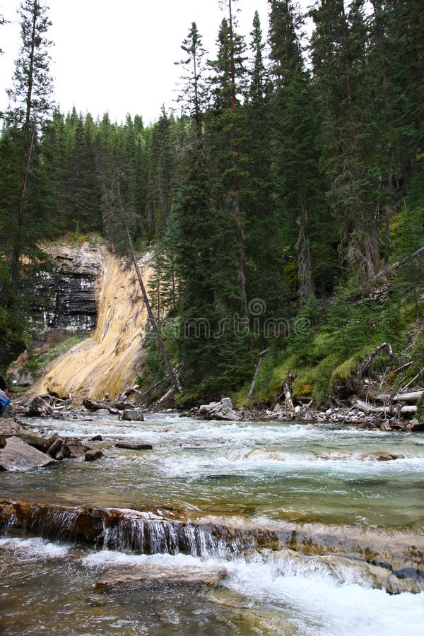 Johnston Canyon Waterfalls photographie stock