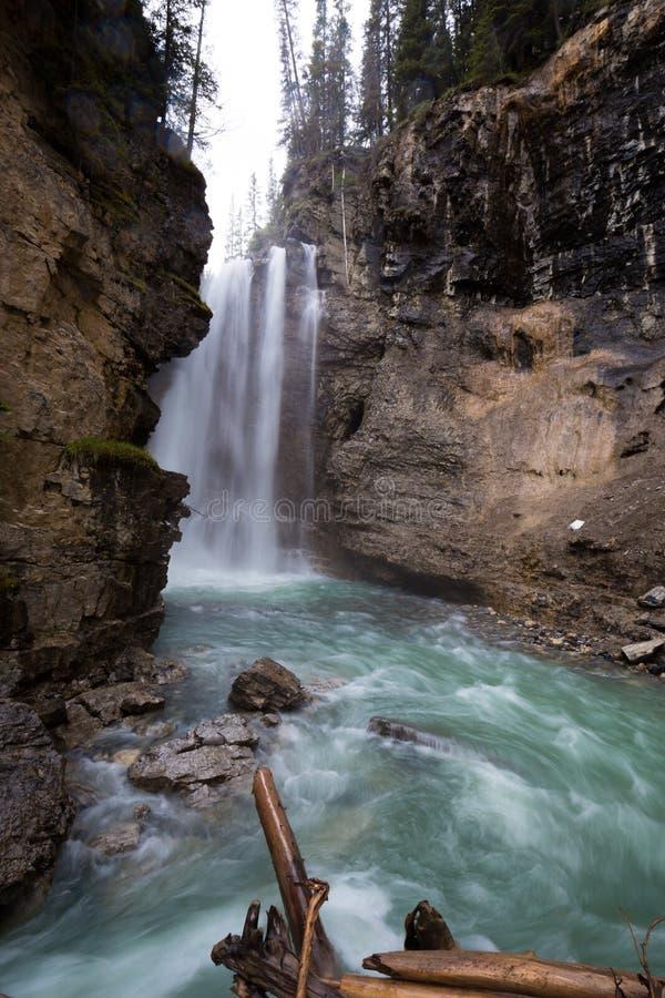 Johnston Canyon. And waterfalls, Alberta, Canada royalty free stock images