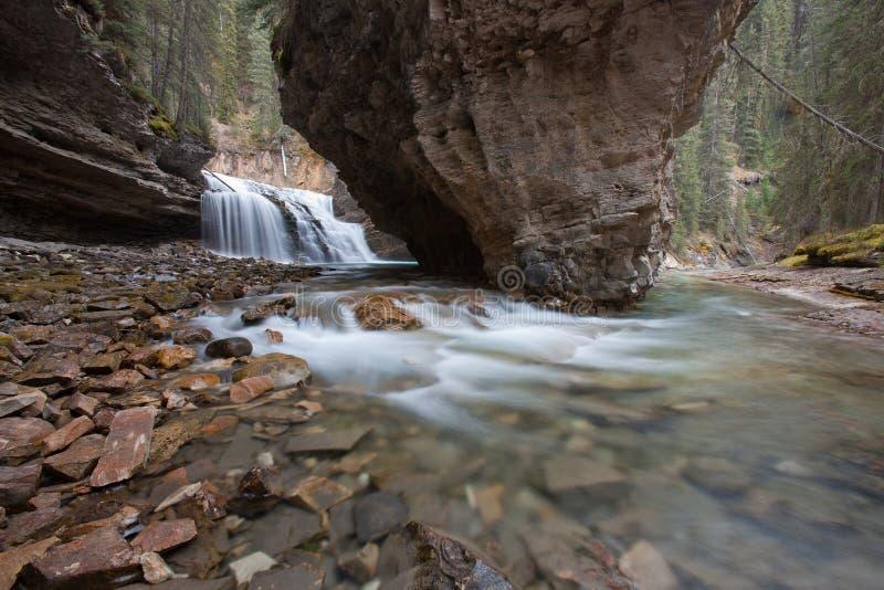 Johnston Falls. Johnston Canyon Falls, Alberta, Canada royalty free stock image