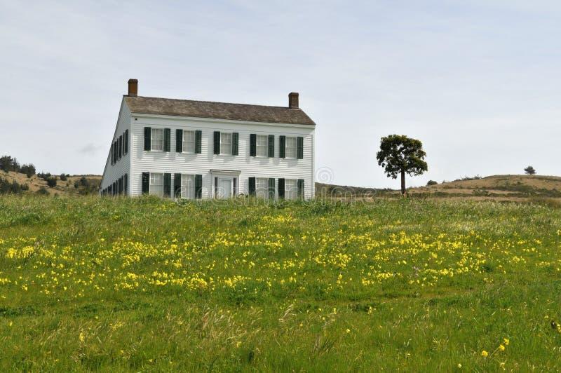 Johnston House. 1853, Half Moon Bay, California royalty free stock photo