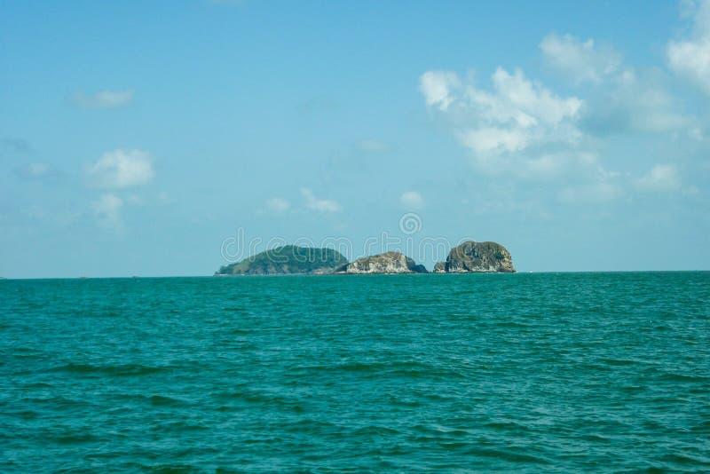 Johor öar på den Johor havssikten royaltyfria bilder