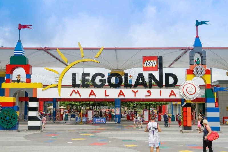JOHOR BAHRU, MALÁSIA - 10 de abril de 2017 - Legoland Malásia era o primeiro parque de diversões internacional em Nusajaya imagem de stock royalty free