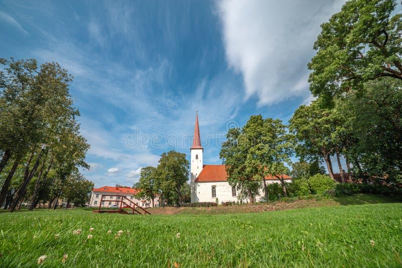 Johvi is een stad in het noordoosten van Estland royalty-vrije stock foto