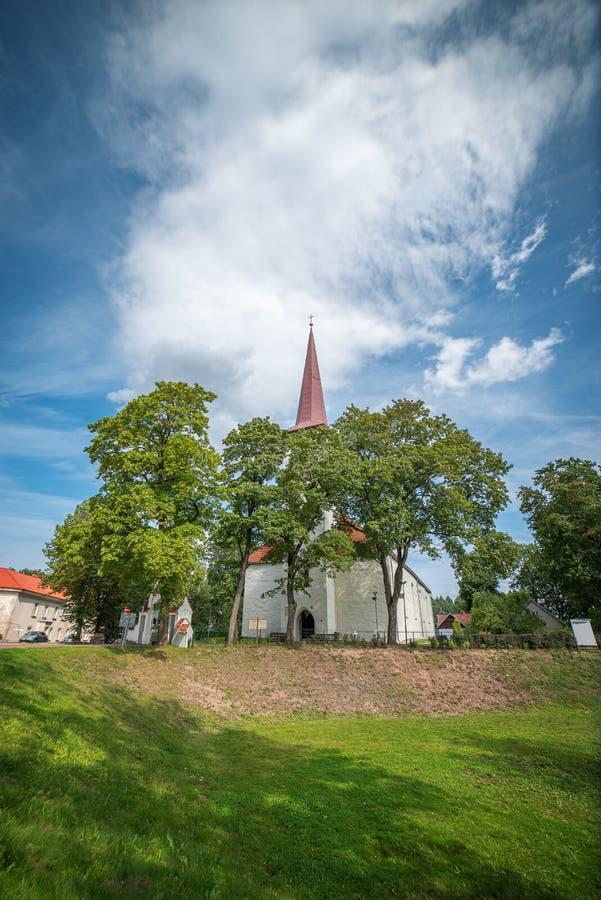 Johvi is een stad in het noordoosten van Estland stock foto's