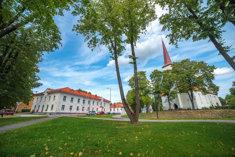 Johvi is een stad in het noordoosten van Estland royalty-vrije stock afbeeldingen
