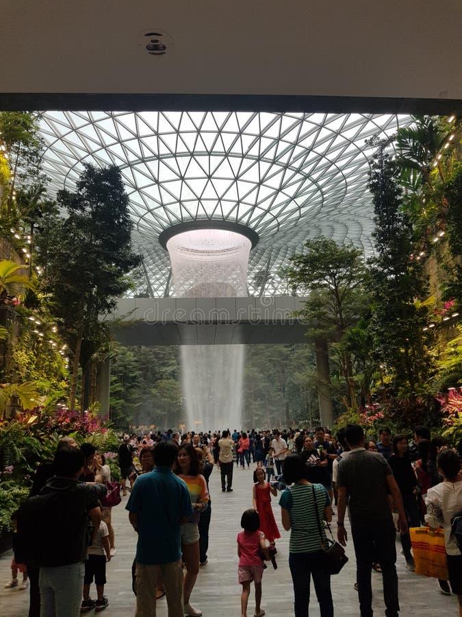 Joia de Changi do redemoinho da chuva @ fotos de stock