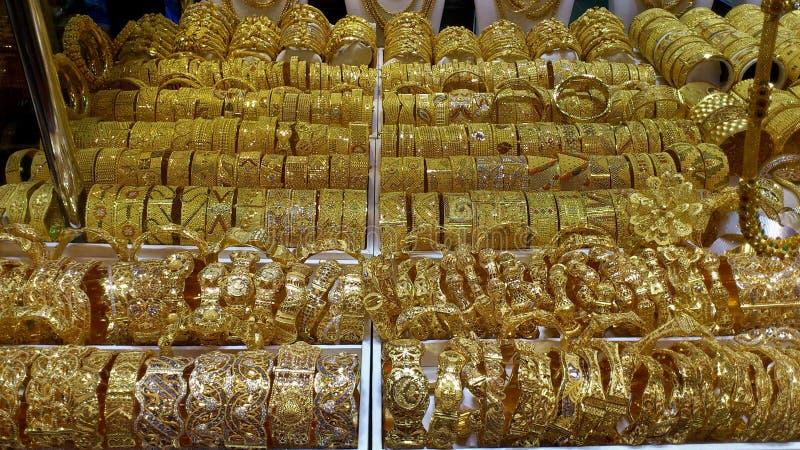 Joia dourada, Dubai imagem de stock