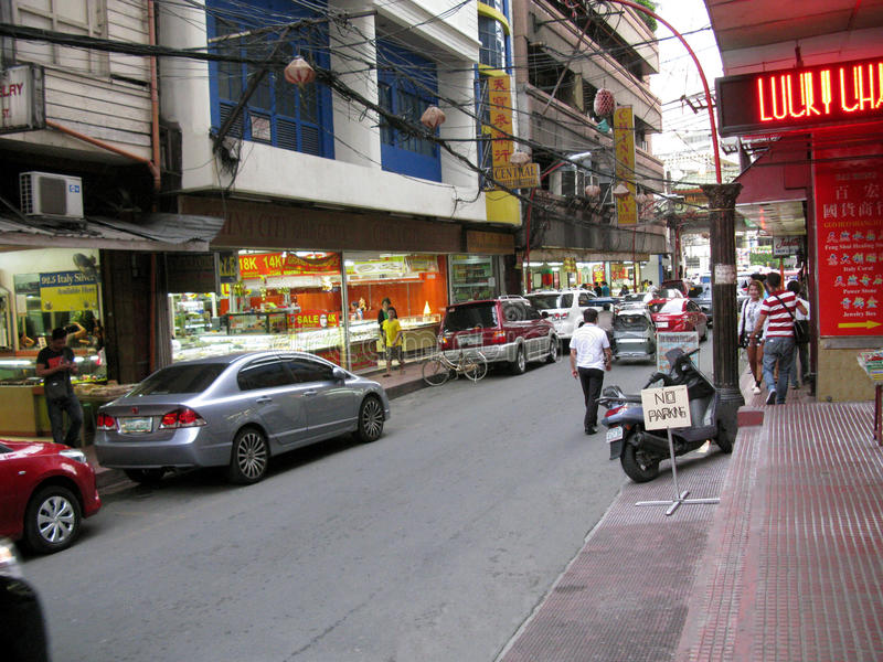 Joia exótica, bairro chinês, Binondo, Manila foto de stock