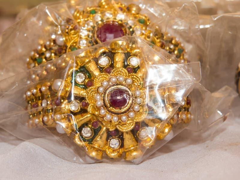 Joia Handcrafted bonita pelo artista de Rajasthan foto de stock