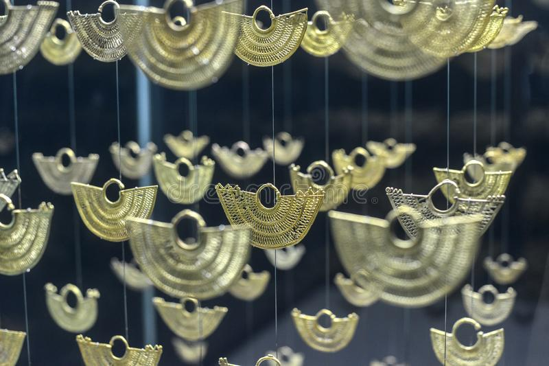 Joia no museu do ouro em Cartagena, Colômbia imagem de stock
