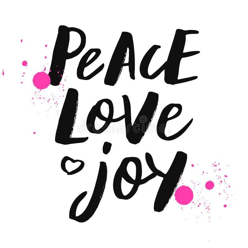Joie d'amour de paix illustration stock
