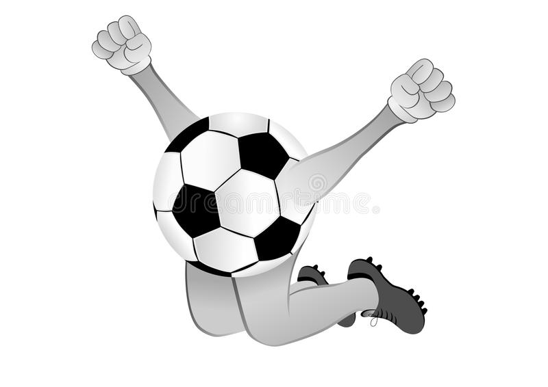 Joie de ballon de football illustration de vecteur