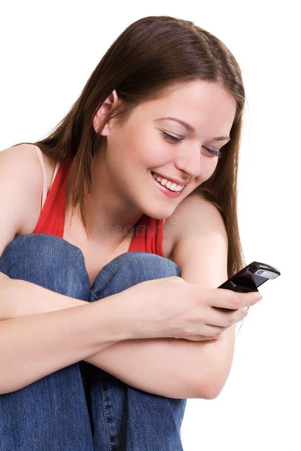 Joie de SMS photo stock
